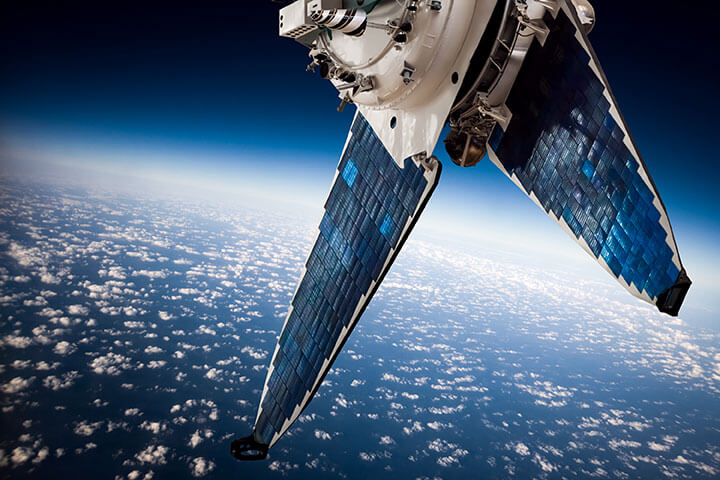 satellite in space above earth