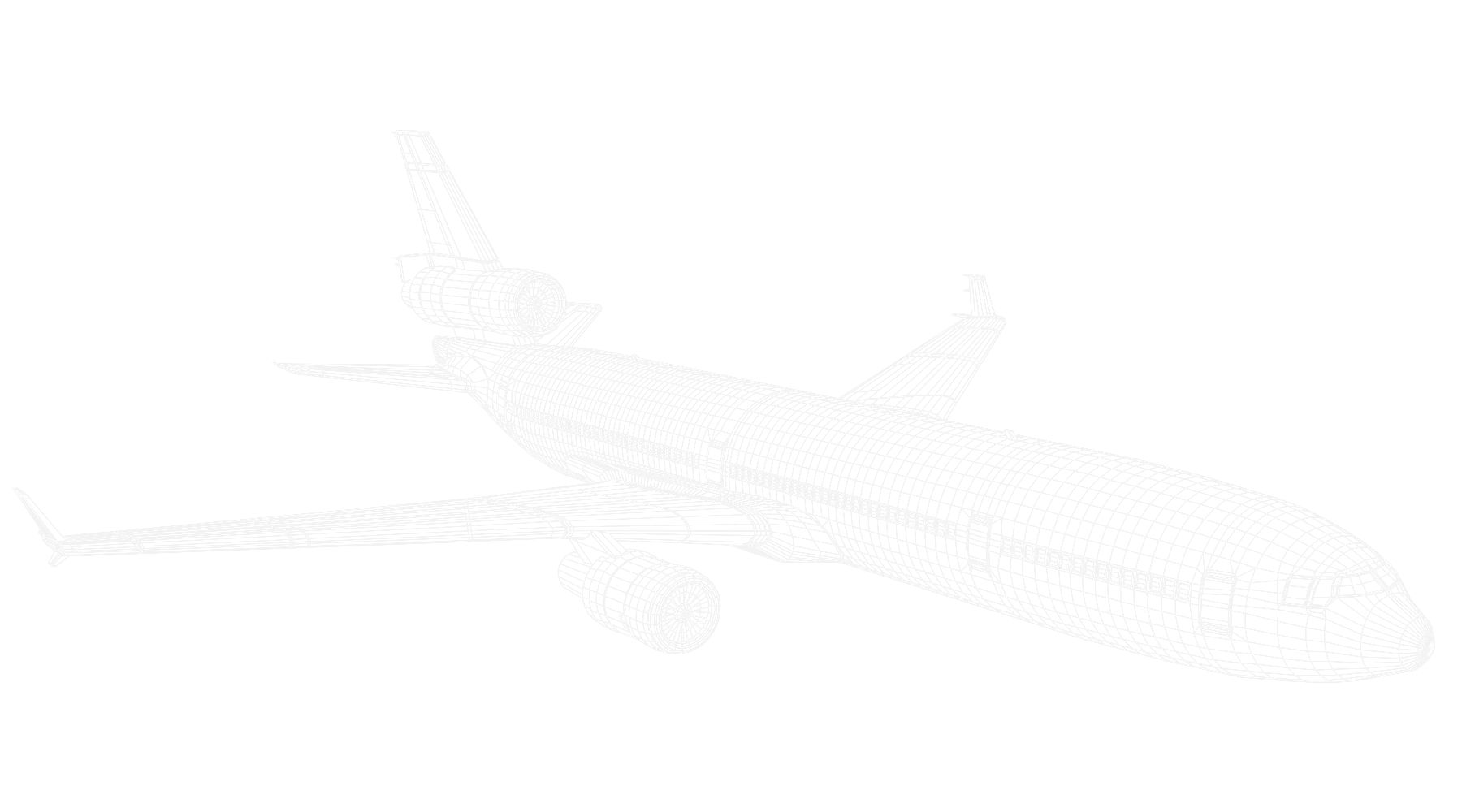 Plane white outline