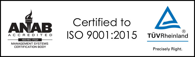 ANAB Management Systems Certified ISO 9001:2015