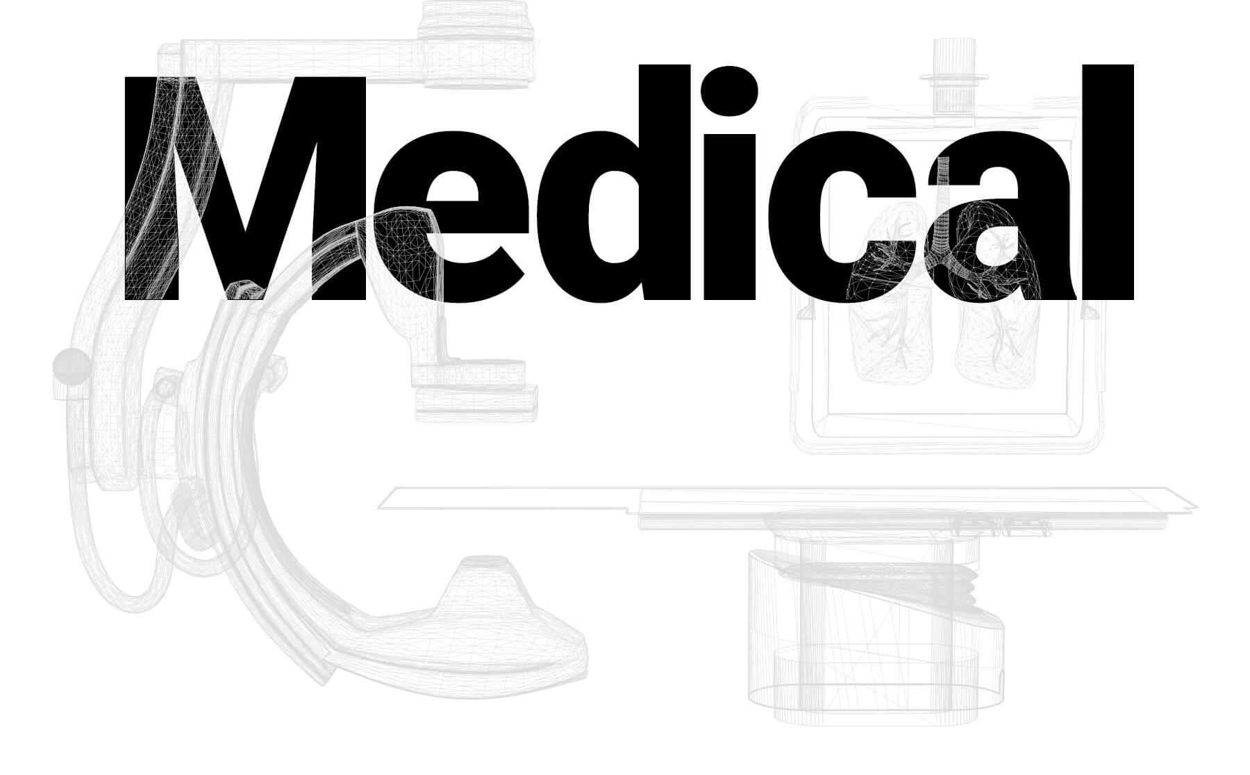 medical header black and white