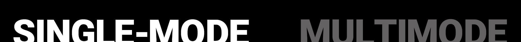single-mode white text black back